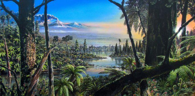 Antarktīdā atklātas 90 miljonus gadu sena lietus meža pēdas