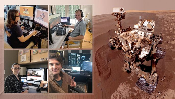 """Lūk, kā zinātnieki no mājām vada Marsa zondi """"Curiosity"""""""