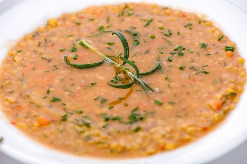 Lēcu zupa ar liellopa gaļu