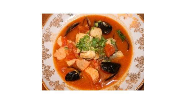Vidusjūras zupa ar gliemenēm